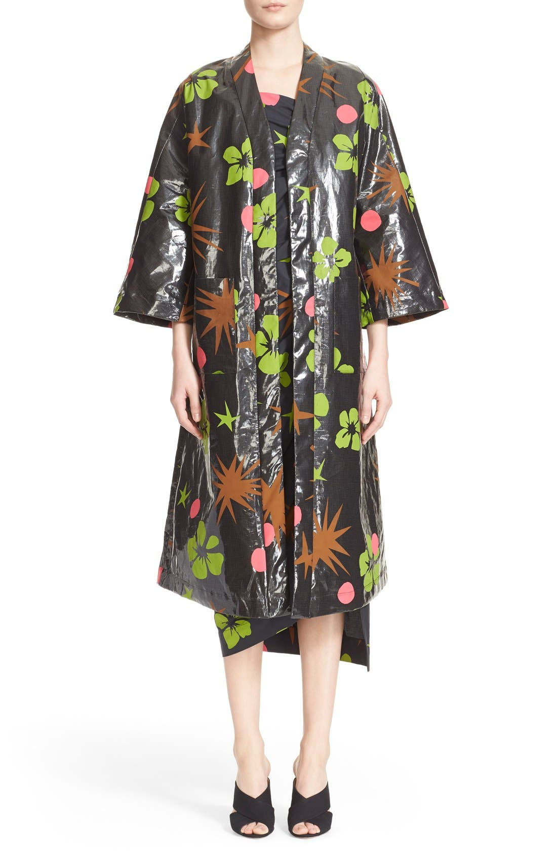 Alternate Image 1  - Isa Arfen Coated Linen Robe Coat