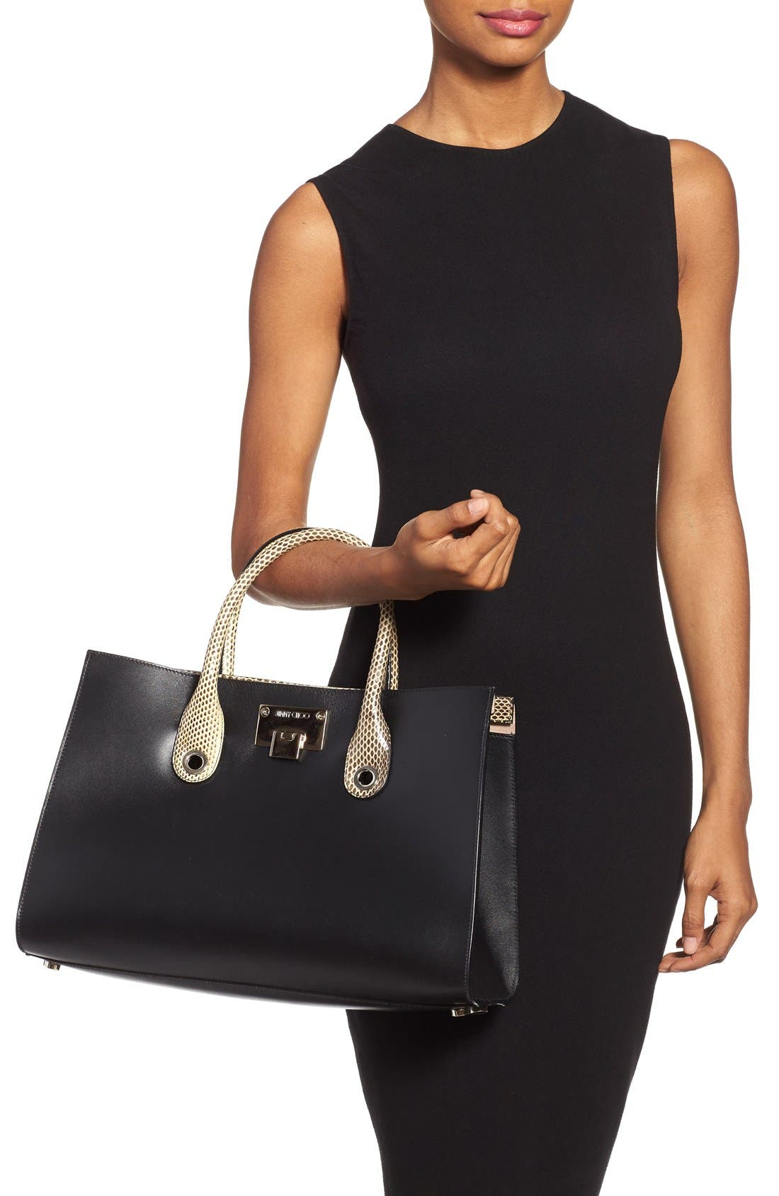 Alternate Image 2  - Jimmy Choo 'Riley' Leather Tote