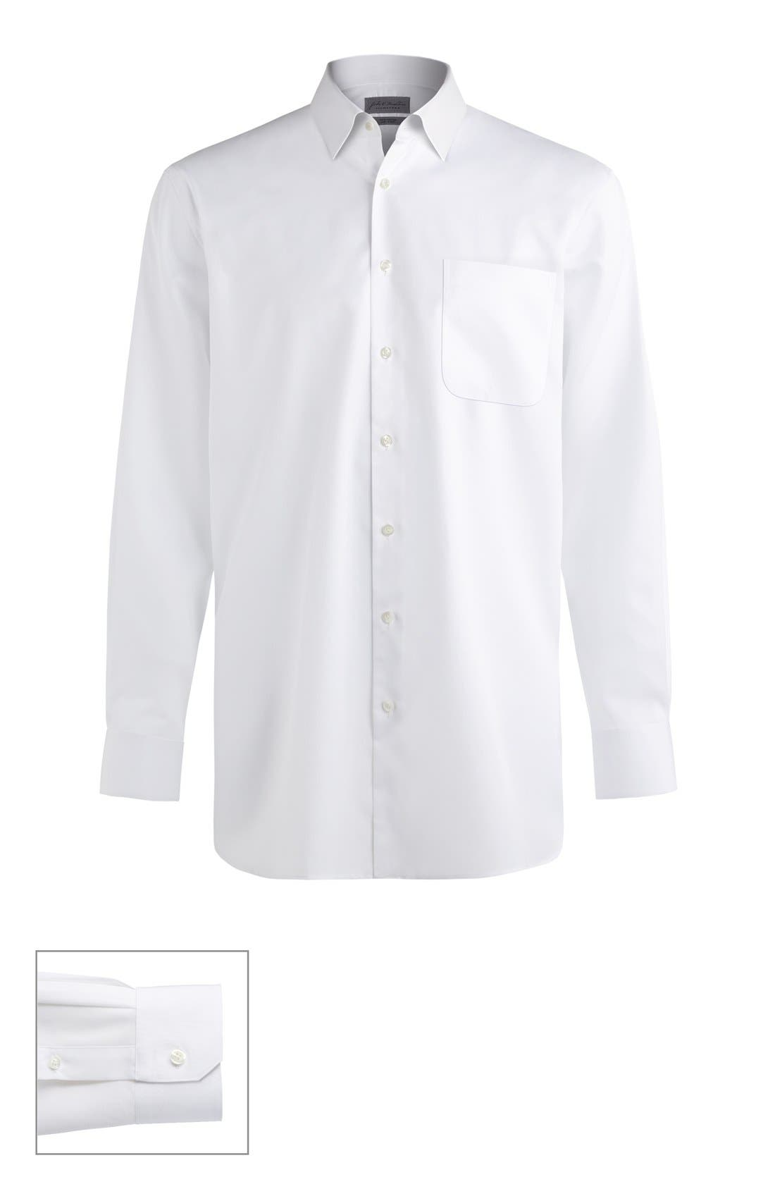 John W. Nordstrom® Made to Measure Classic Fit Straight Collar Solid Dress Shirt