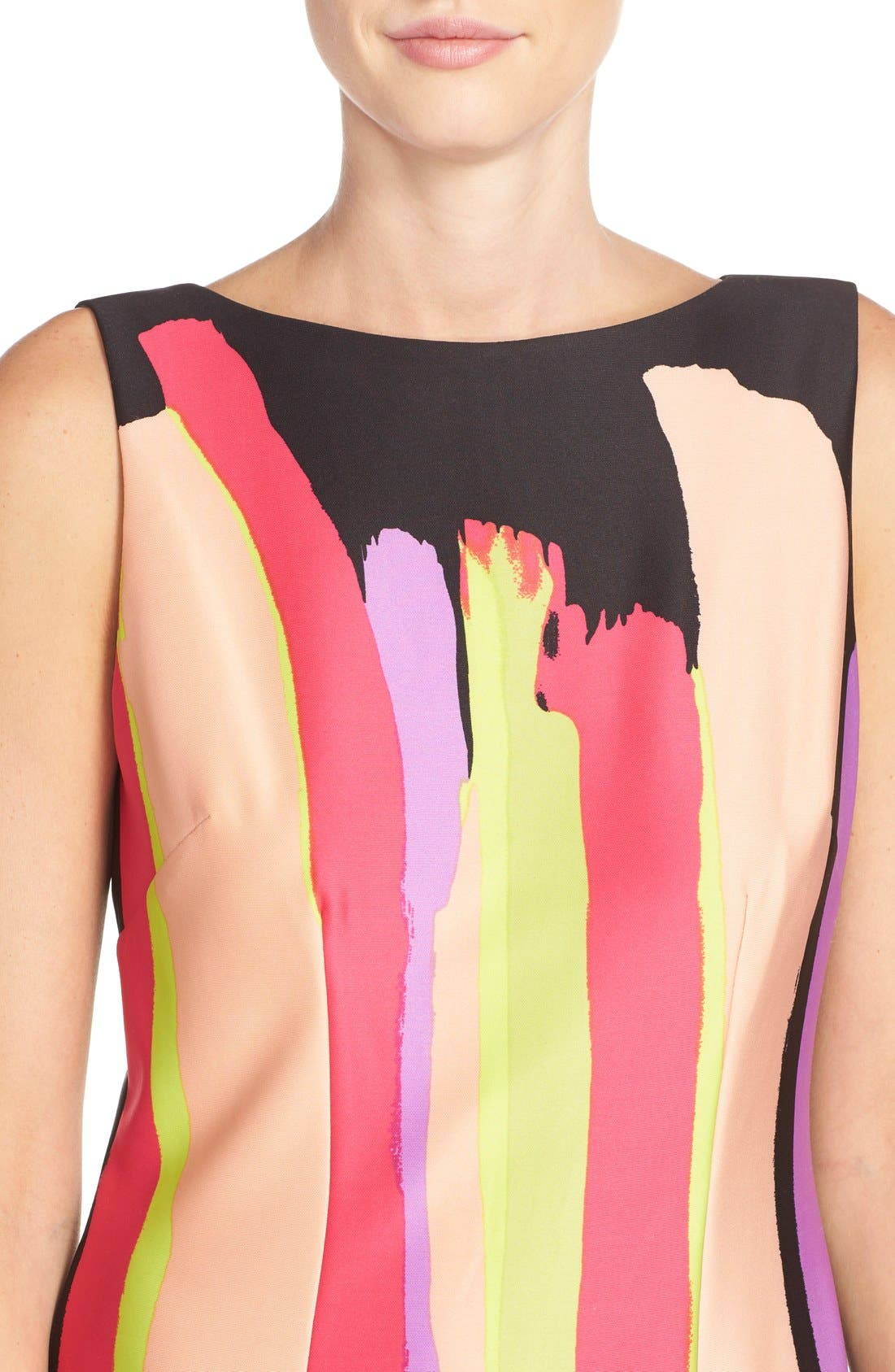 Alternate Image 4  - Chetta B Print Scuba Sheath Dress