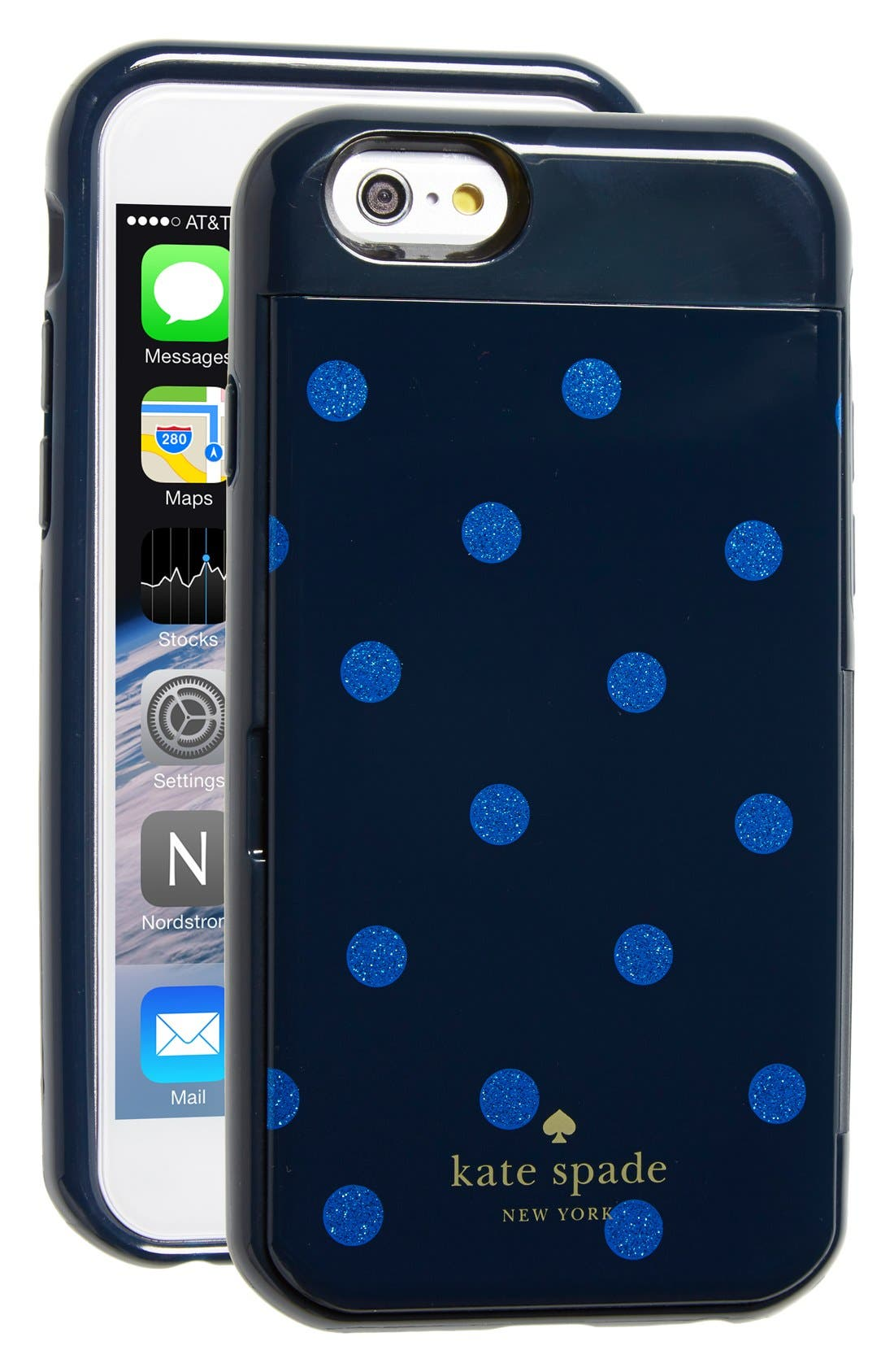Alternate Image 1 Selected - kate spade new york 'stowaway dot' iPhone 6 & 6s case