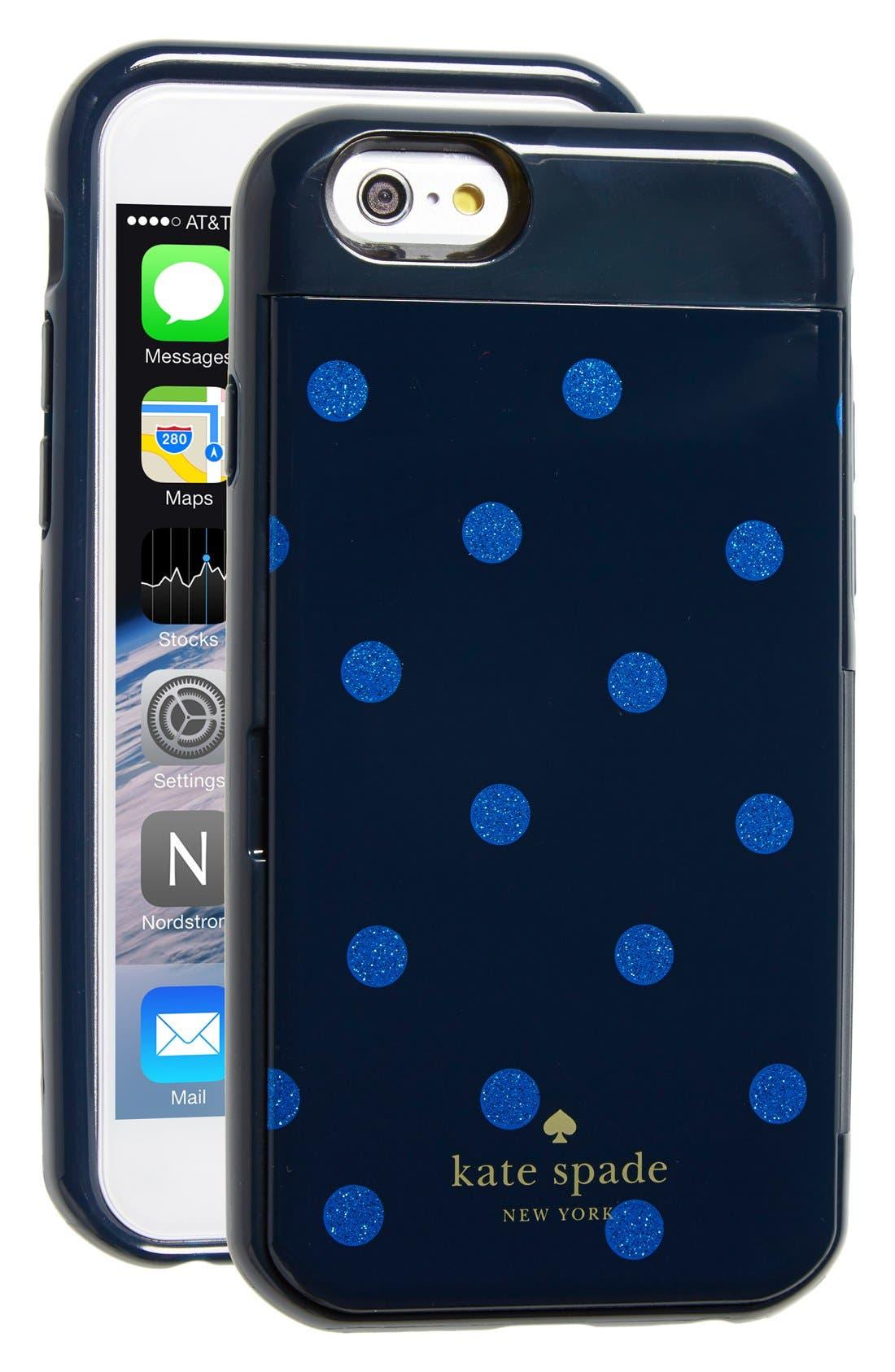 Main Image - kate spade new york 'stowaway dot' iPhone 6 & 6s case