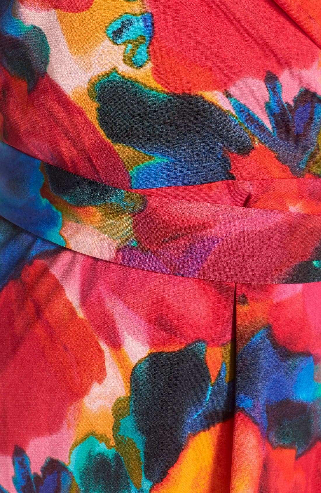 Alternate Image 5  - Ellen Tracy Watercolor Print Jersey Faux Wrap Dress