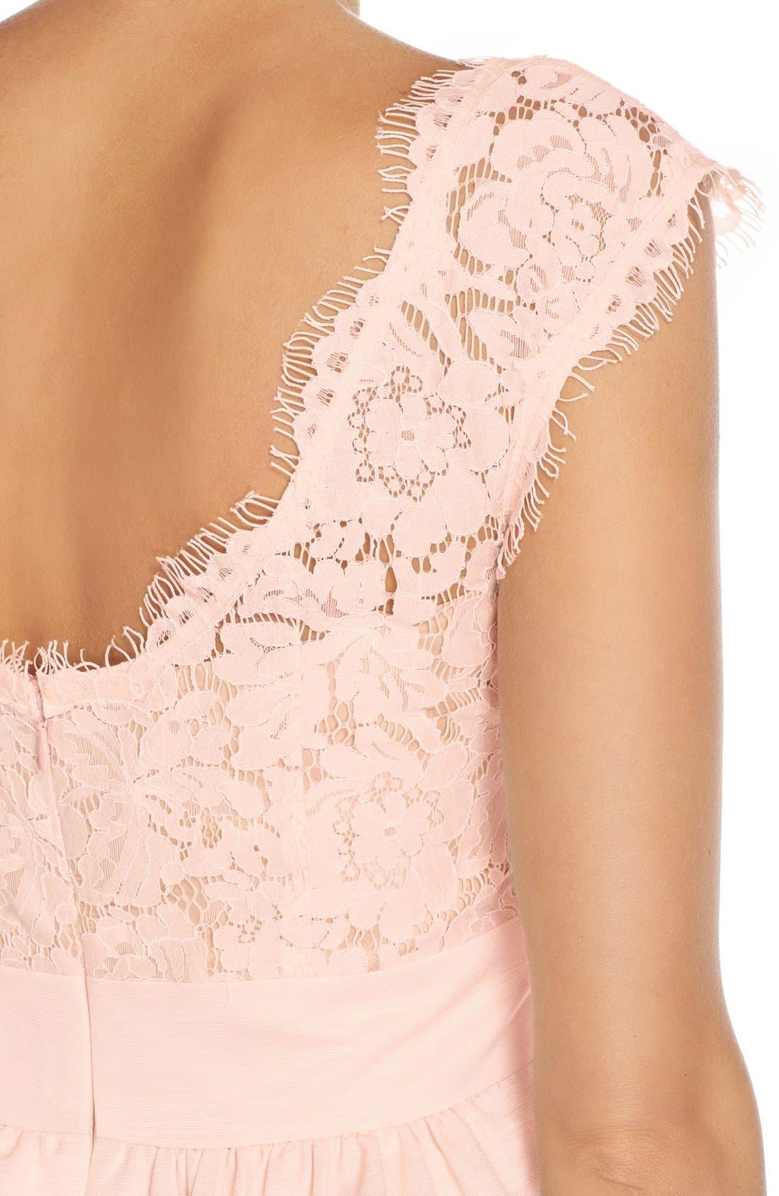 Alternate Image 5  - Eliza J Lace & Faille Dress (Regular & Petite)