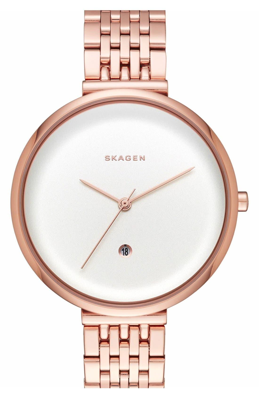 Skagen 'Gitte' Bracelet Watch, 38mm