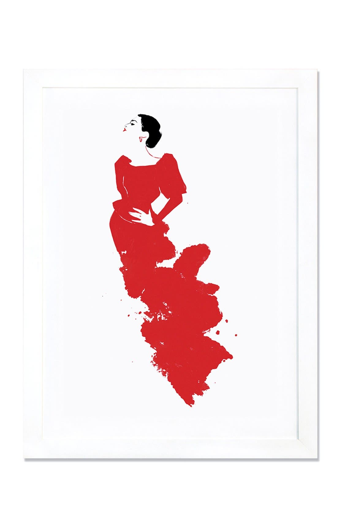 Alternate Image 1 Selected - iCanvas 'The Queen' Giclée Print Framed Canvas Art