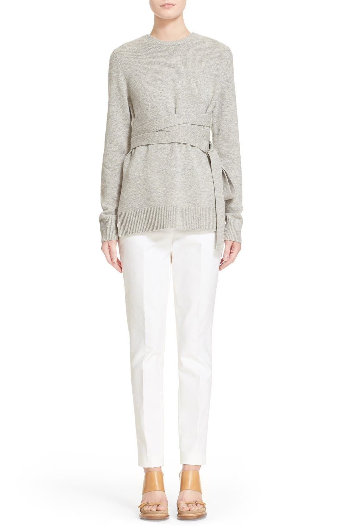 Alternate Image 7  - Michael Kors Wrap Belt Cashmere Sweater