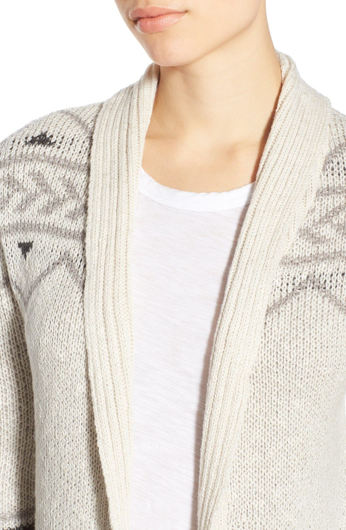 Alternate Image 4  - cupcakes and cashmere 'Reilly' Open Front Long Cardigan