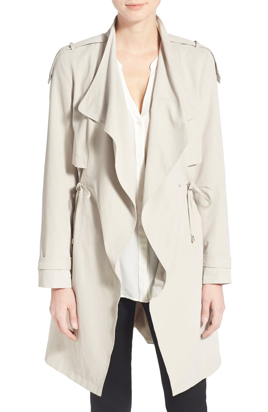 Main Image - French Connection Drape Front Trench Coat