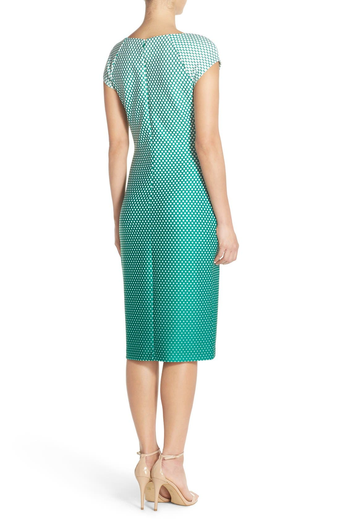 Alternate Image 2  - ECI Ombré Polka Dot Scuba Midi Sheath Dress