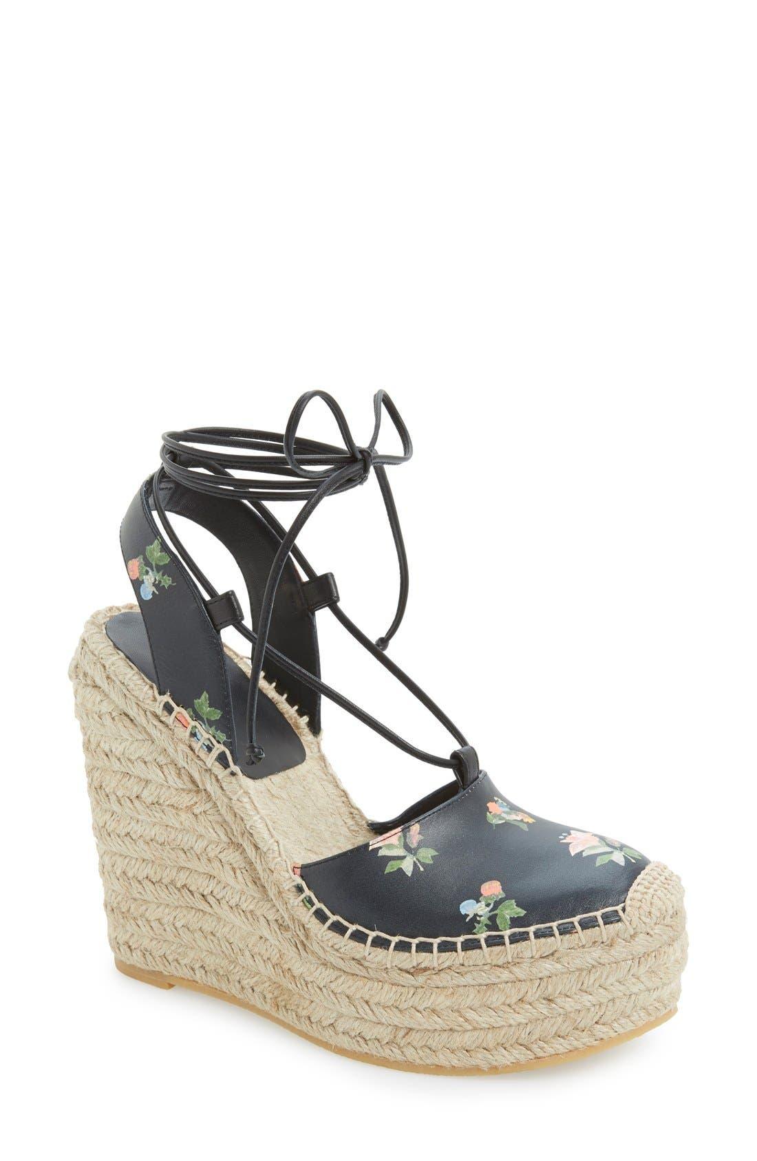 Main Image - Saint Laurent Espadrille Wedge Sandal (Women)