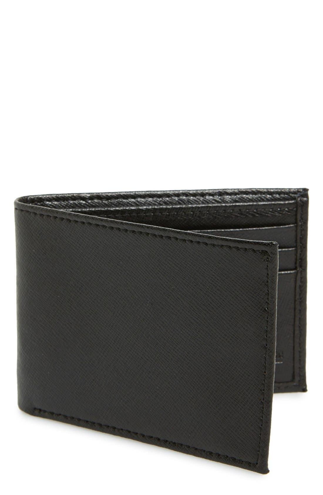 Alternate Image 1 Selected - Nordstrom Men's Shop Large Saffiano Leather Bifold Wallet