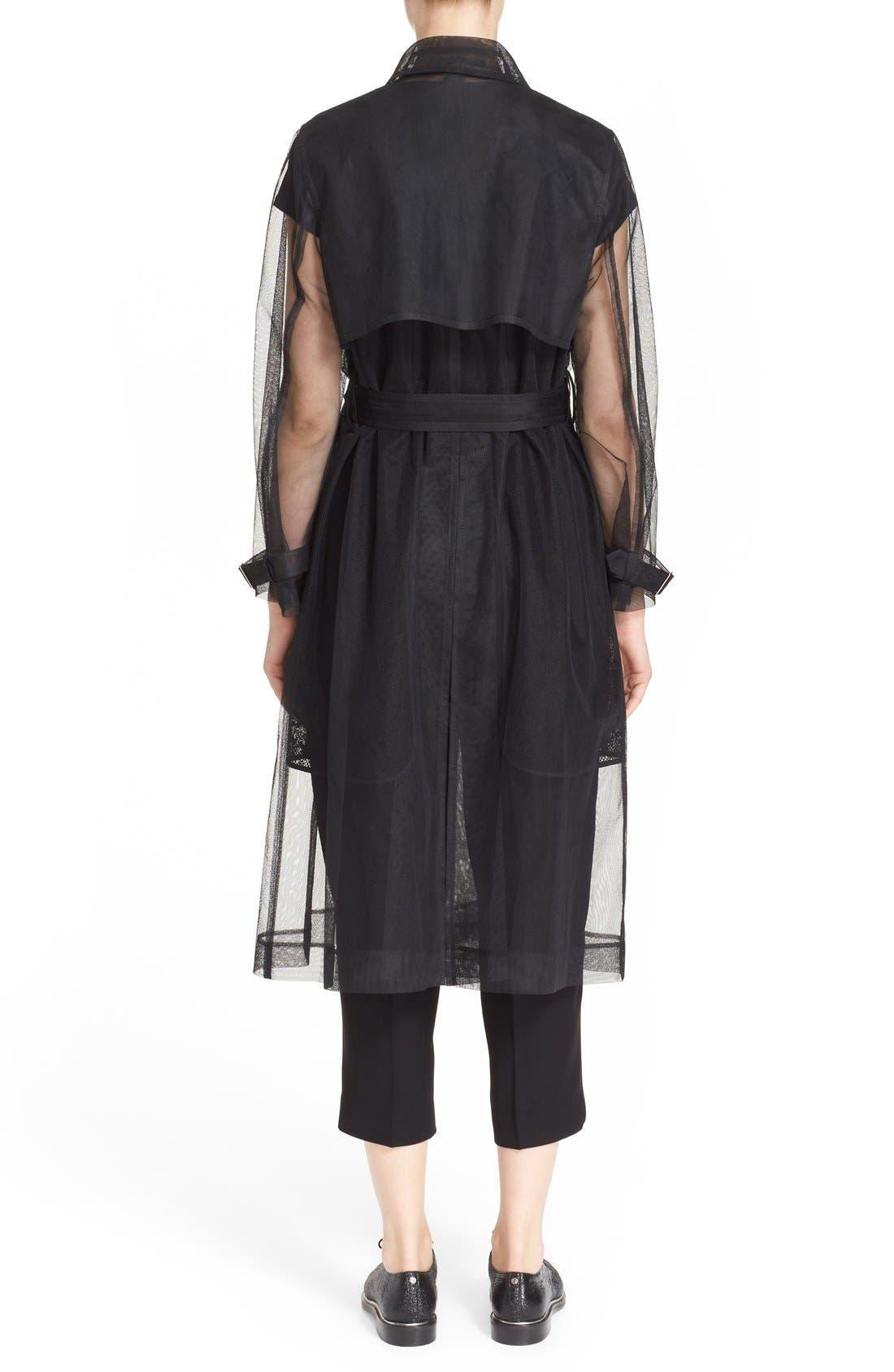Alternate Image 2  - noir kei ninomiya Sheer Tulle Trench Coat
