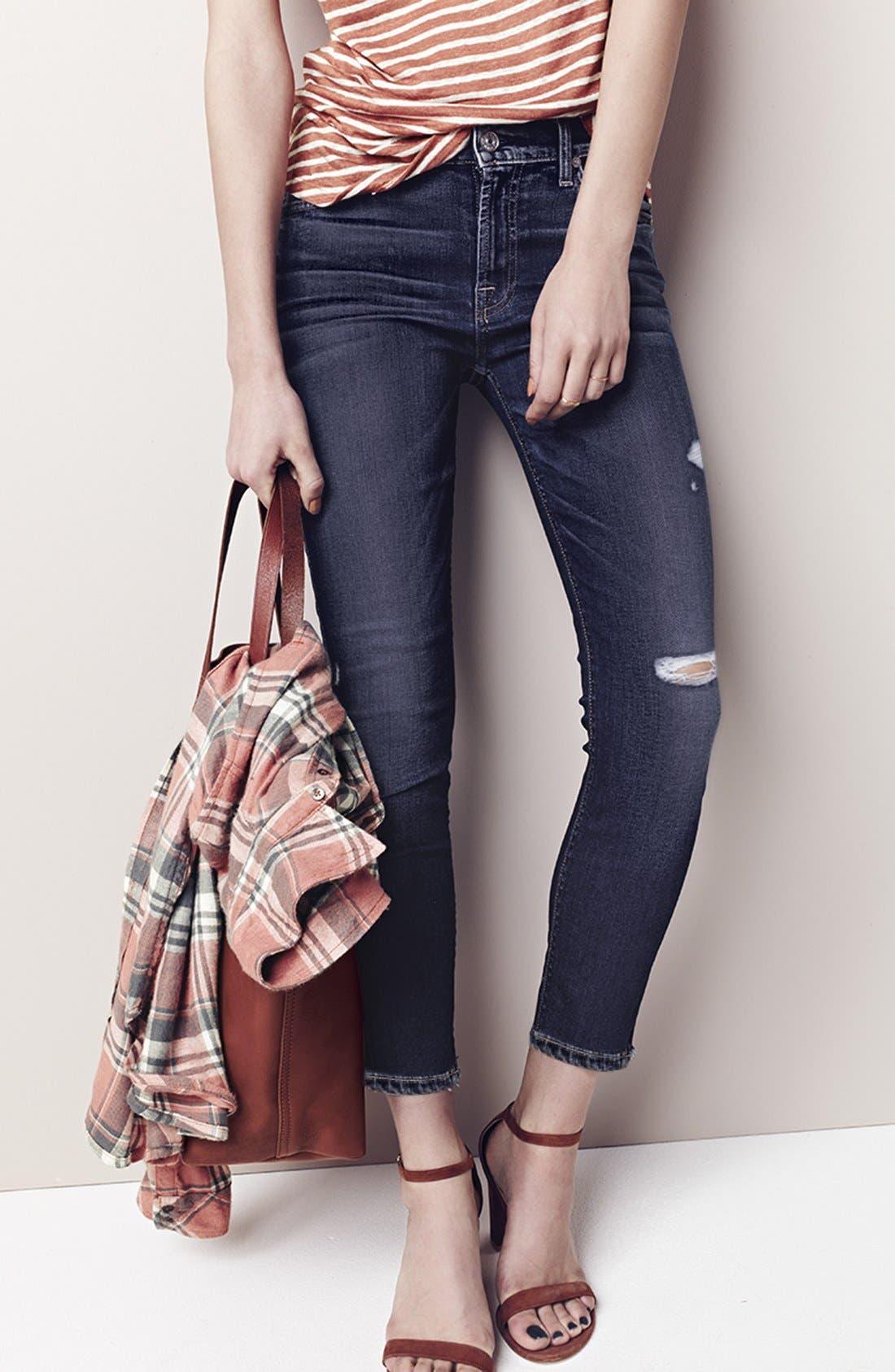 Alternate Image 8  - Paige Denim 'Transcend - Verdugo' Ultra Skinny Jeans (Silas Destructed)