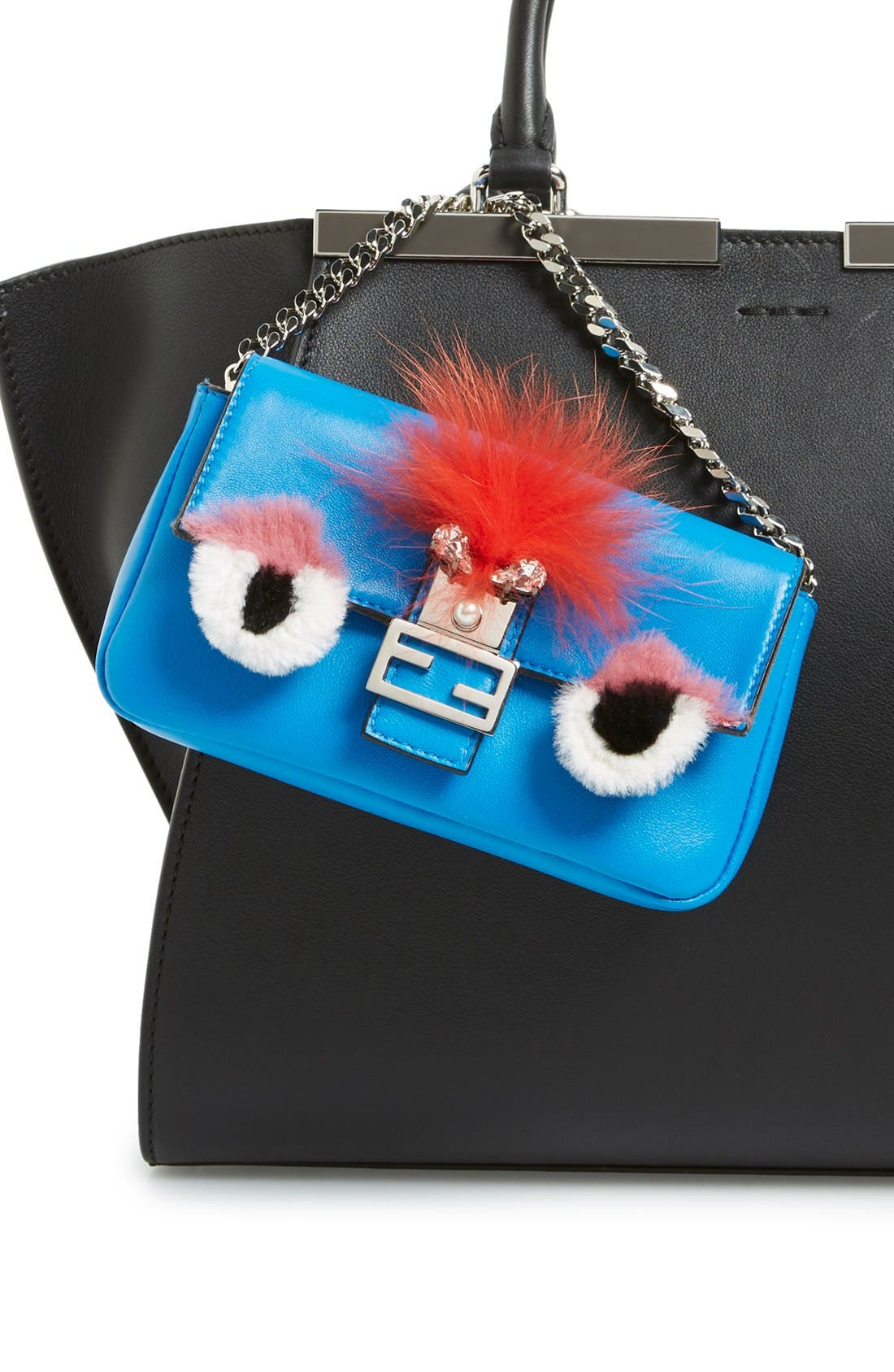 Alternate Image 5  - Fendi 'Monster' Genuine Rabbit Fur & Genuine Fox Fur Micro Baguette