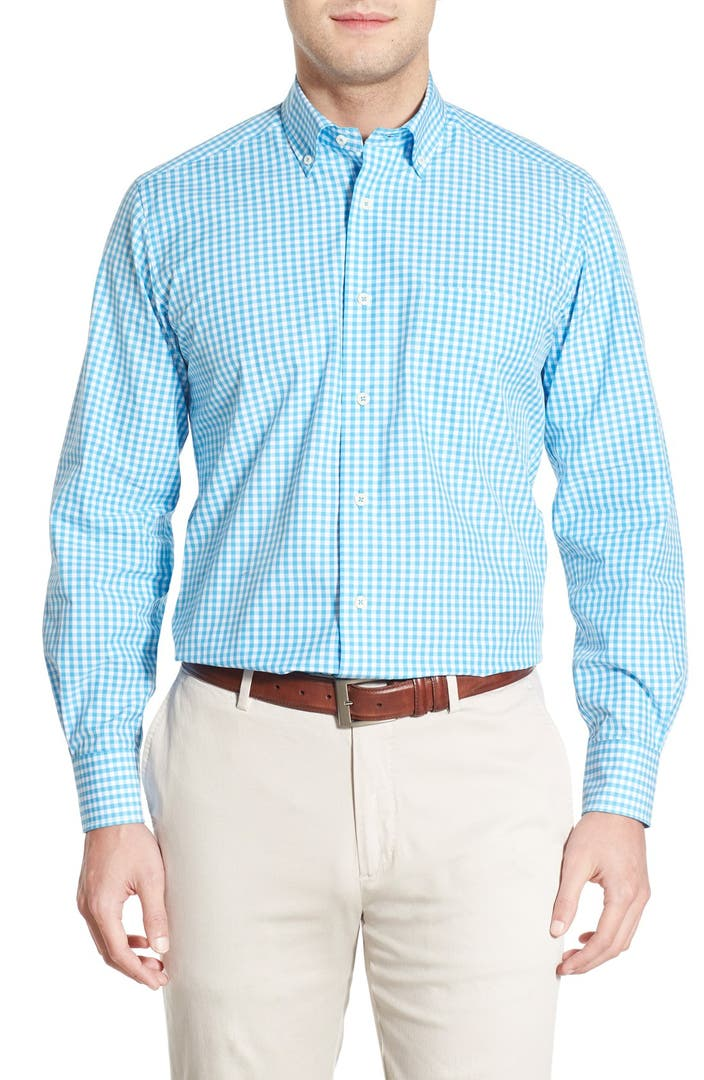 David donahue regular fit gingham sport shirt nordstrom for David donahue french cuff shirts