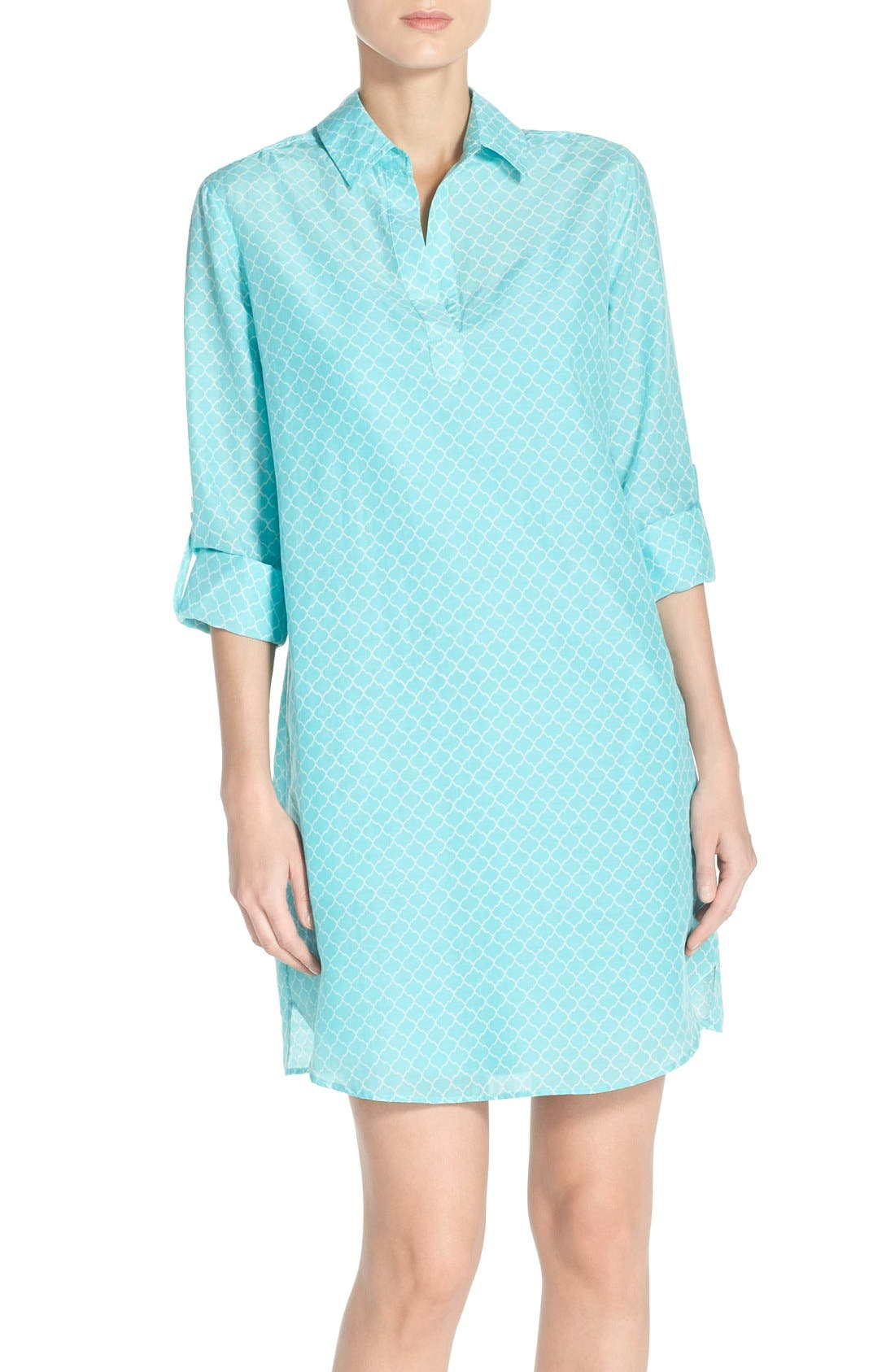 Alternate Image 1 Selected - KUT from the Kloth Print Chambray Shirtdress