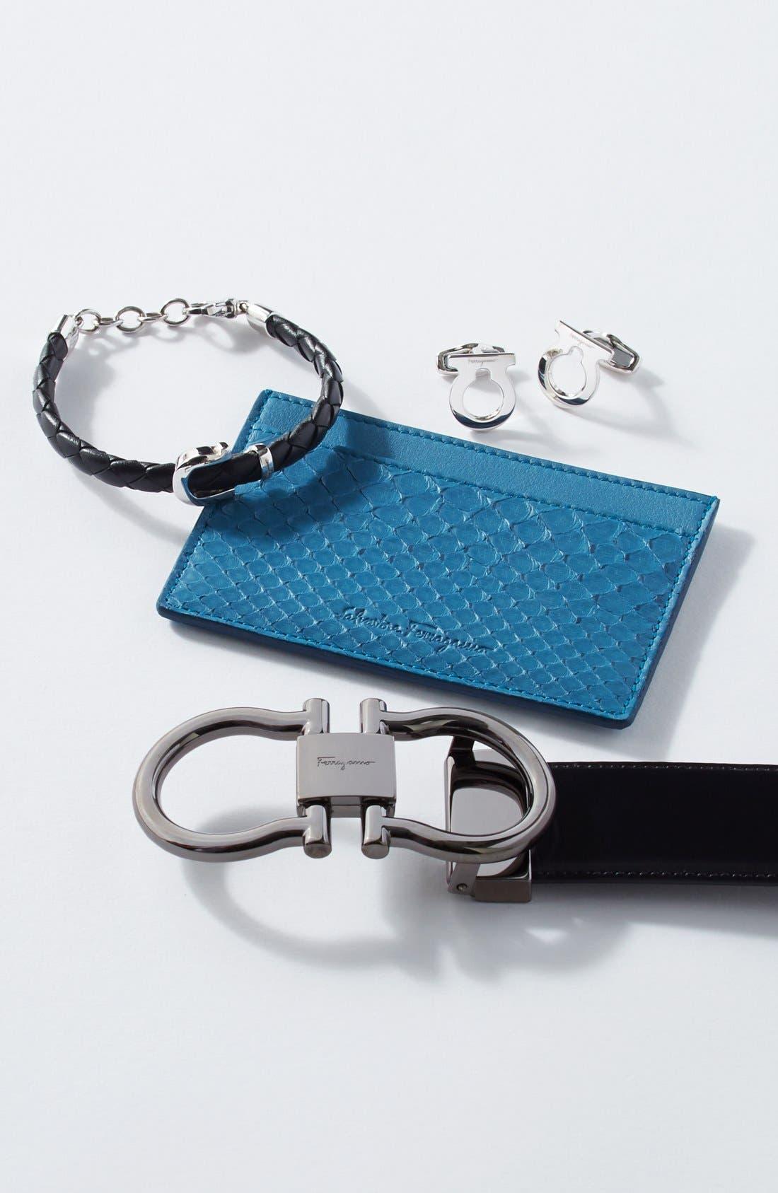 Alternate Image 2  - Salvatore Ferragamo Gancio Braided Leather Bracelet
