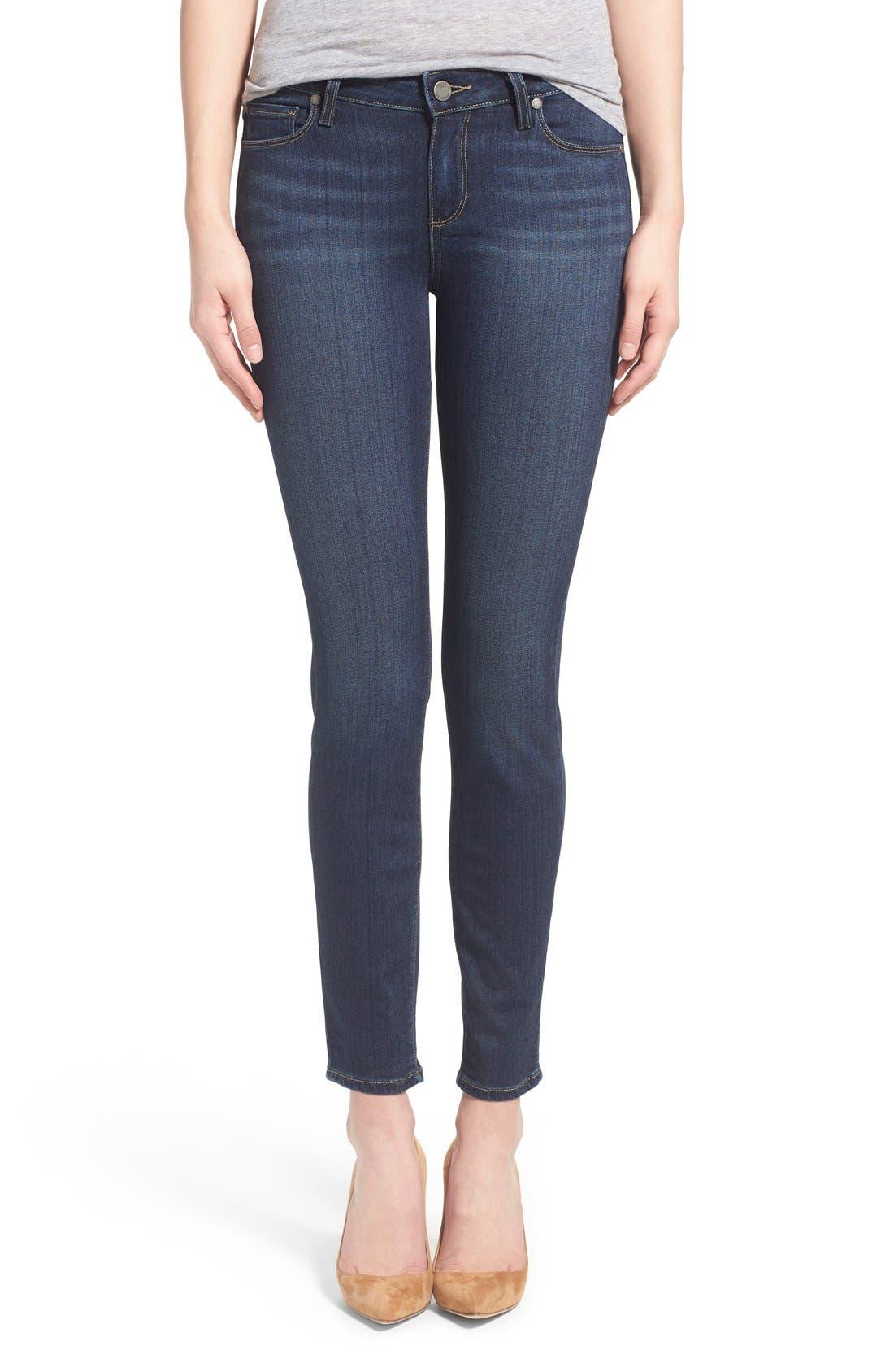 Main Image - Paige Denim 'Transcend - Verdugo' Ankle Ultra Skinny Jeans (Nottingham) (Petite)