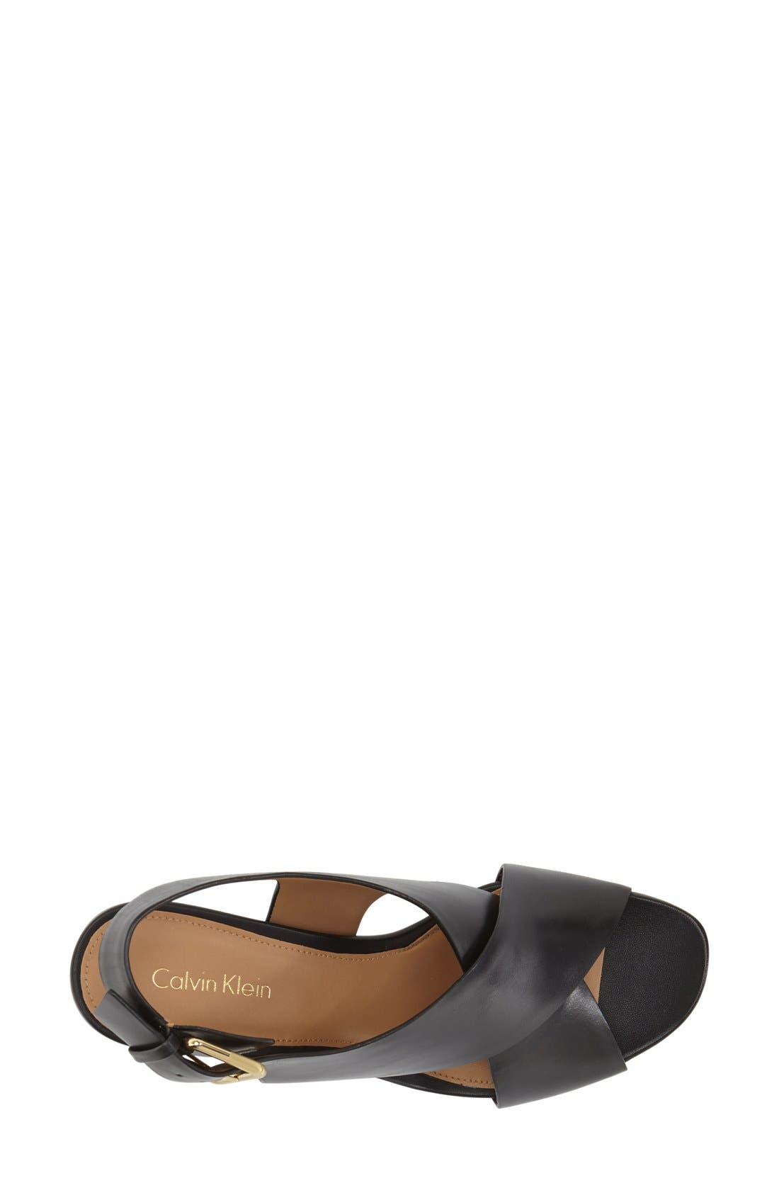 Alternate Image 3  - Calvin Klein 'Loni' Clear Block Heel Sandal (Women)