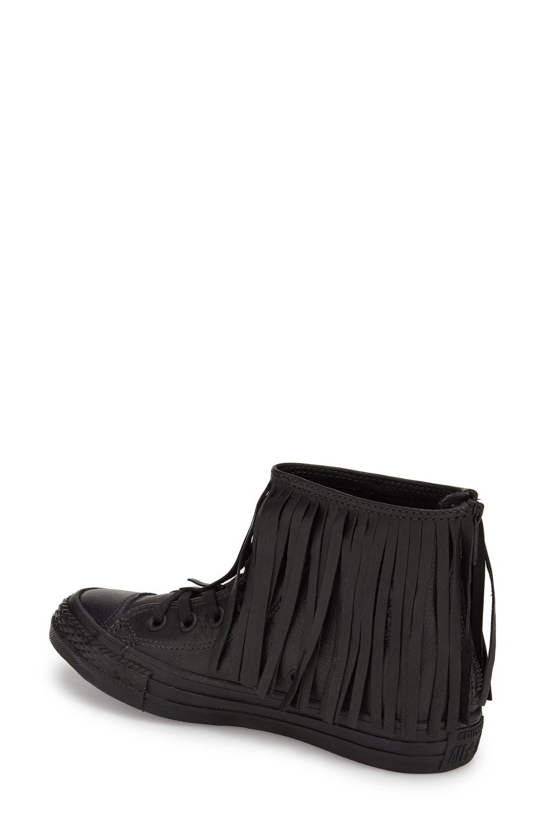Alternate Image 2  - Converse Chuck Taylor® All Star® Fringe Leather High Top Sneaker (Women)