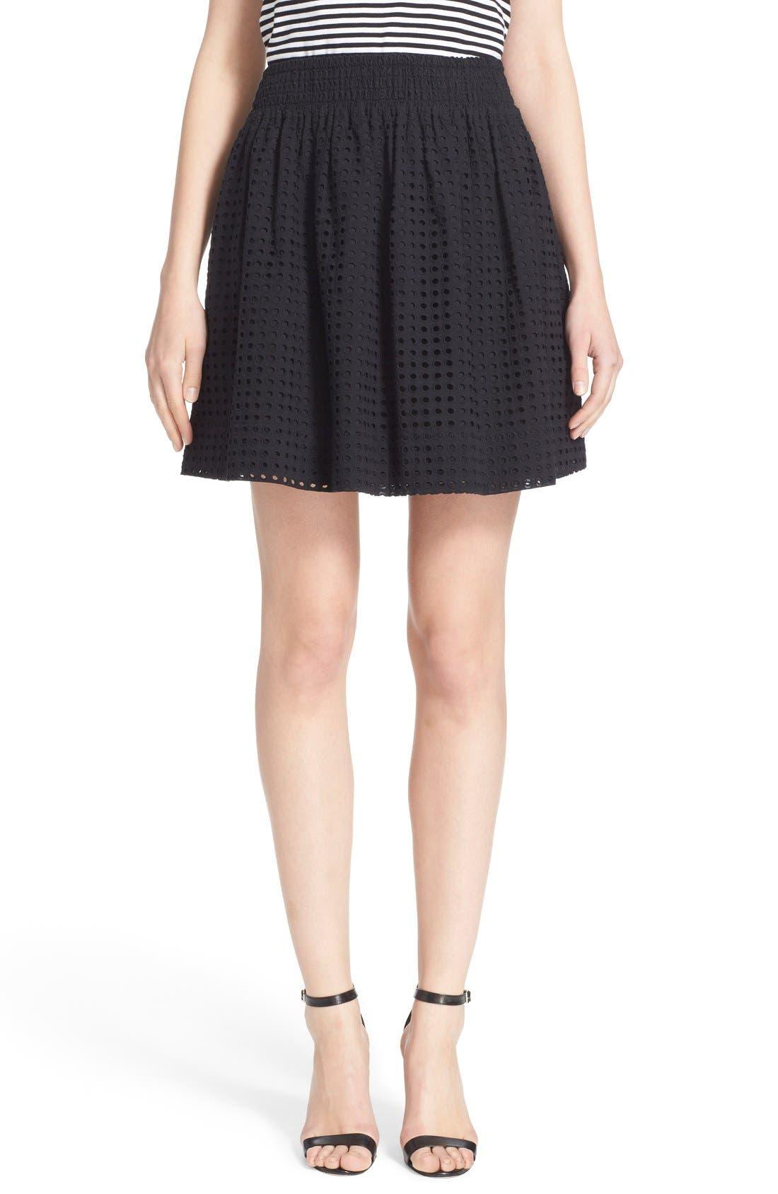 Main Image - kate spade new york 'blaire' eyelet miniskirt
