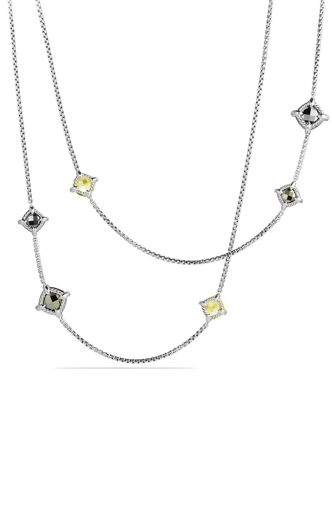 Alternate Image 2  - David Yurman 'Châ telaine' Long Station Necklace with Diamonds