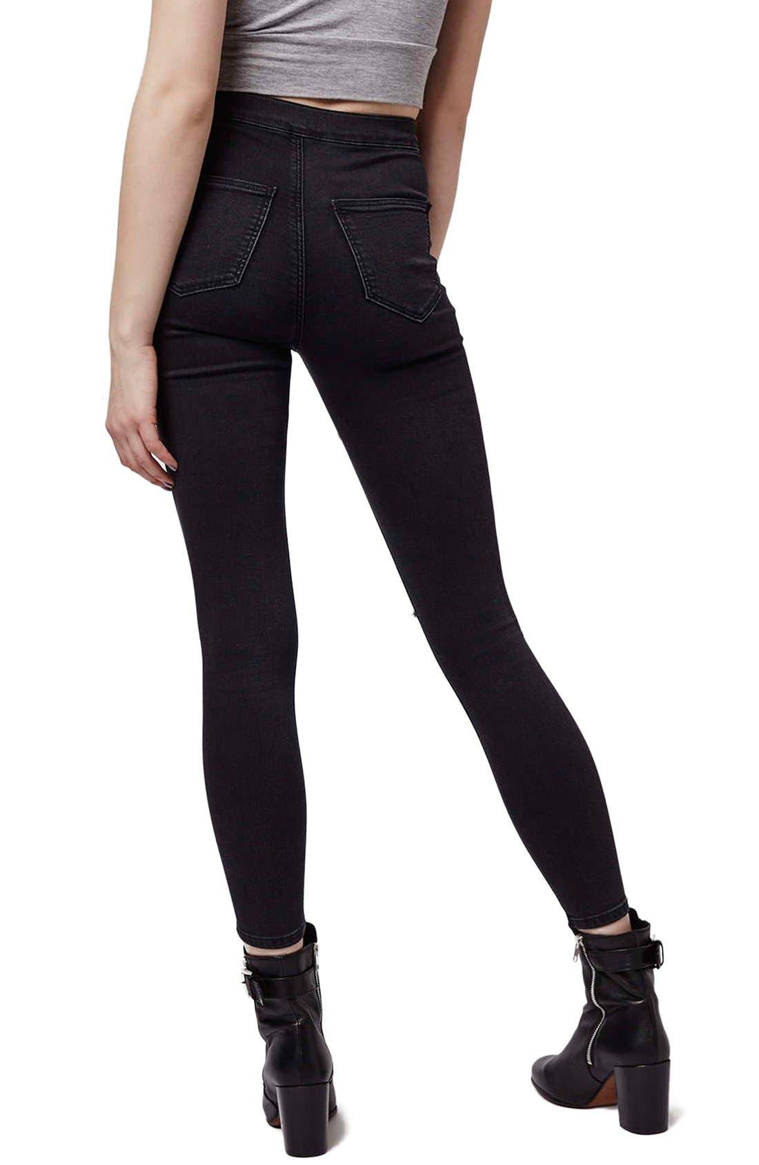 Alternate Image 3  - Topshop Moto 'Joni' Ripped High Rise Skinny Jeans (Petite)