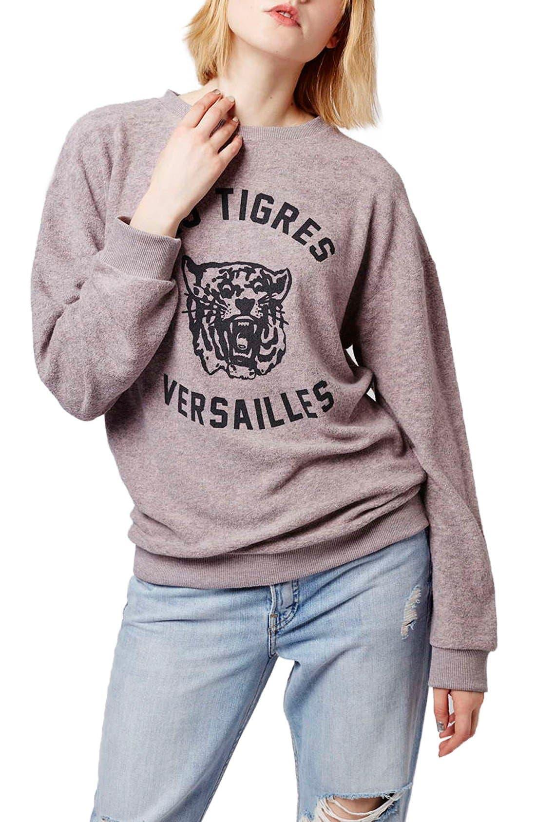 Alternate Image 1 Selected - Topshop 'Versailles' Sweatshirt