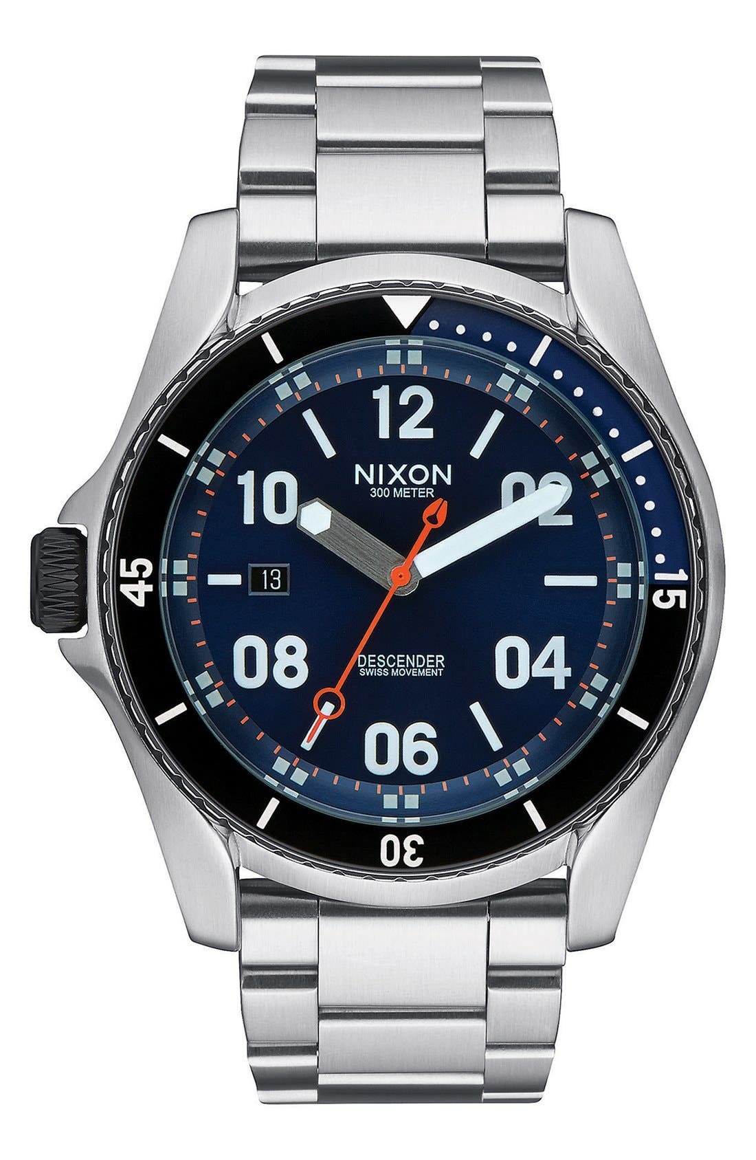 NIXON 'Descender' Bracelet Watch, 45mm