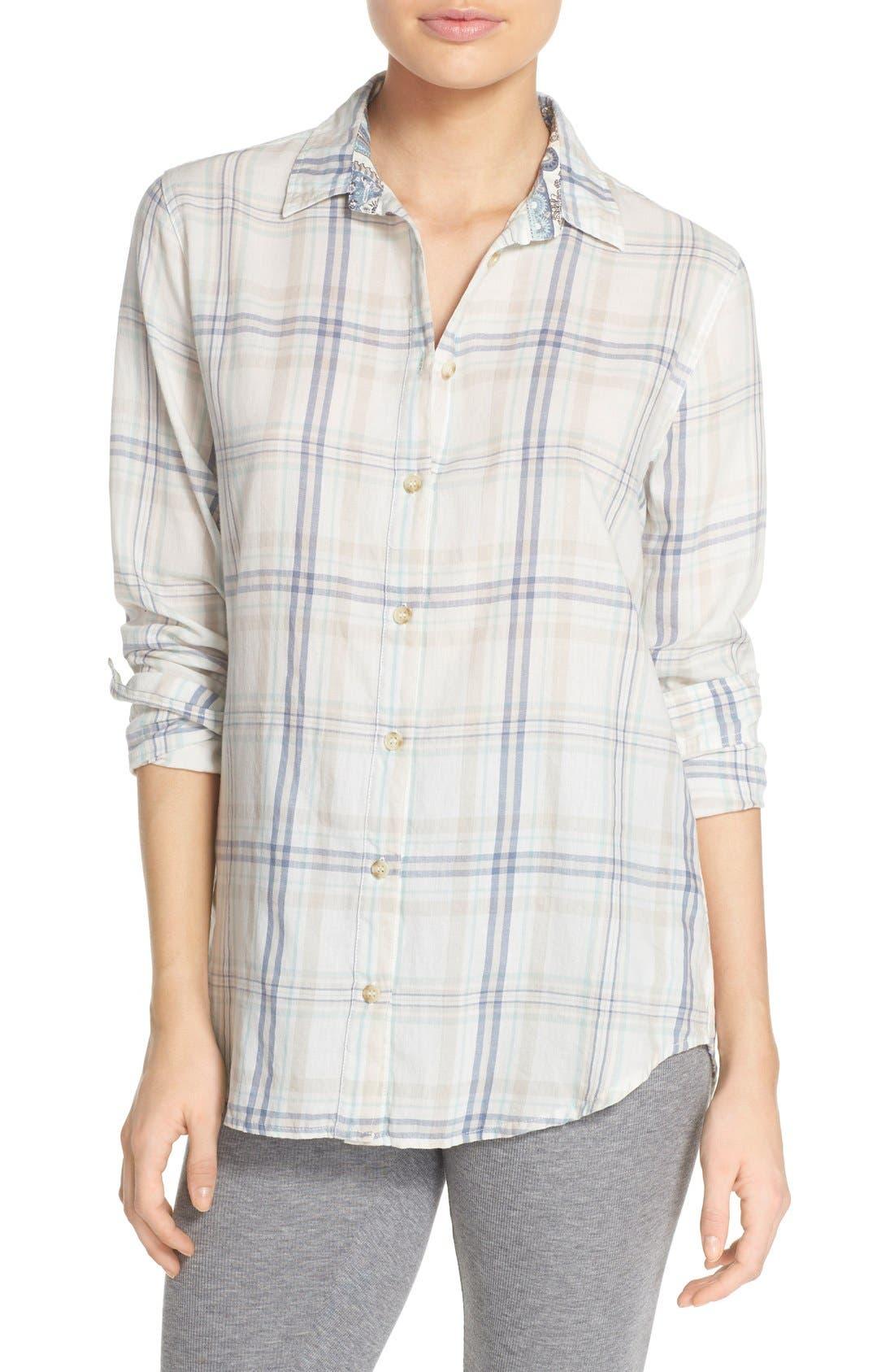 Alternate Image 1 Selected - PJ Salvage Plaid Cotton Twill Shirt