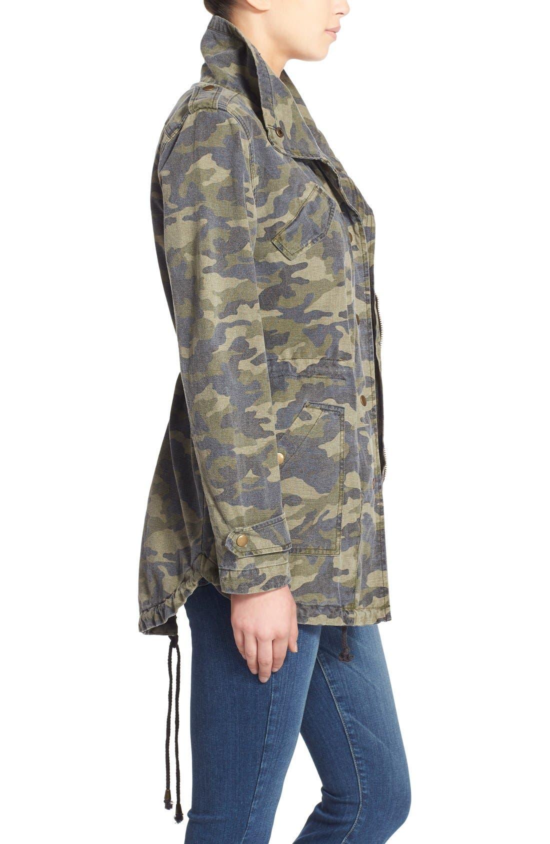 Alternate Image 3  - Velvet by Graham & Spencer 'Army' Cotton Jacket