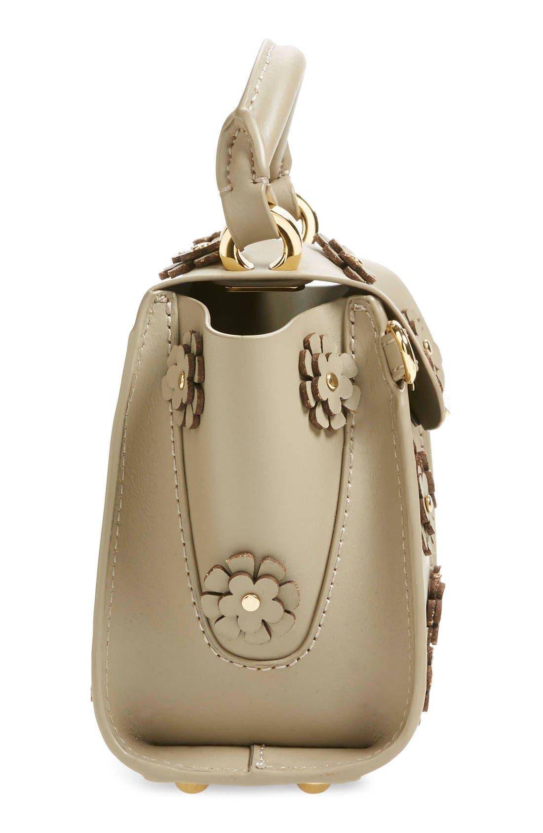 Alternate Image 5  - ZAC Zac Posen 'Mini Eartha' Embellished Leather Top Handle Satchel