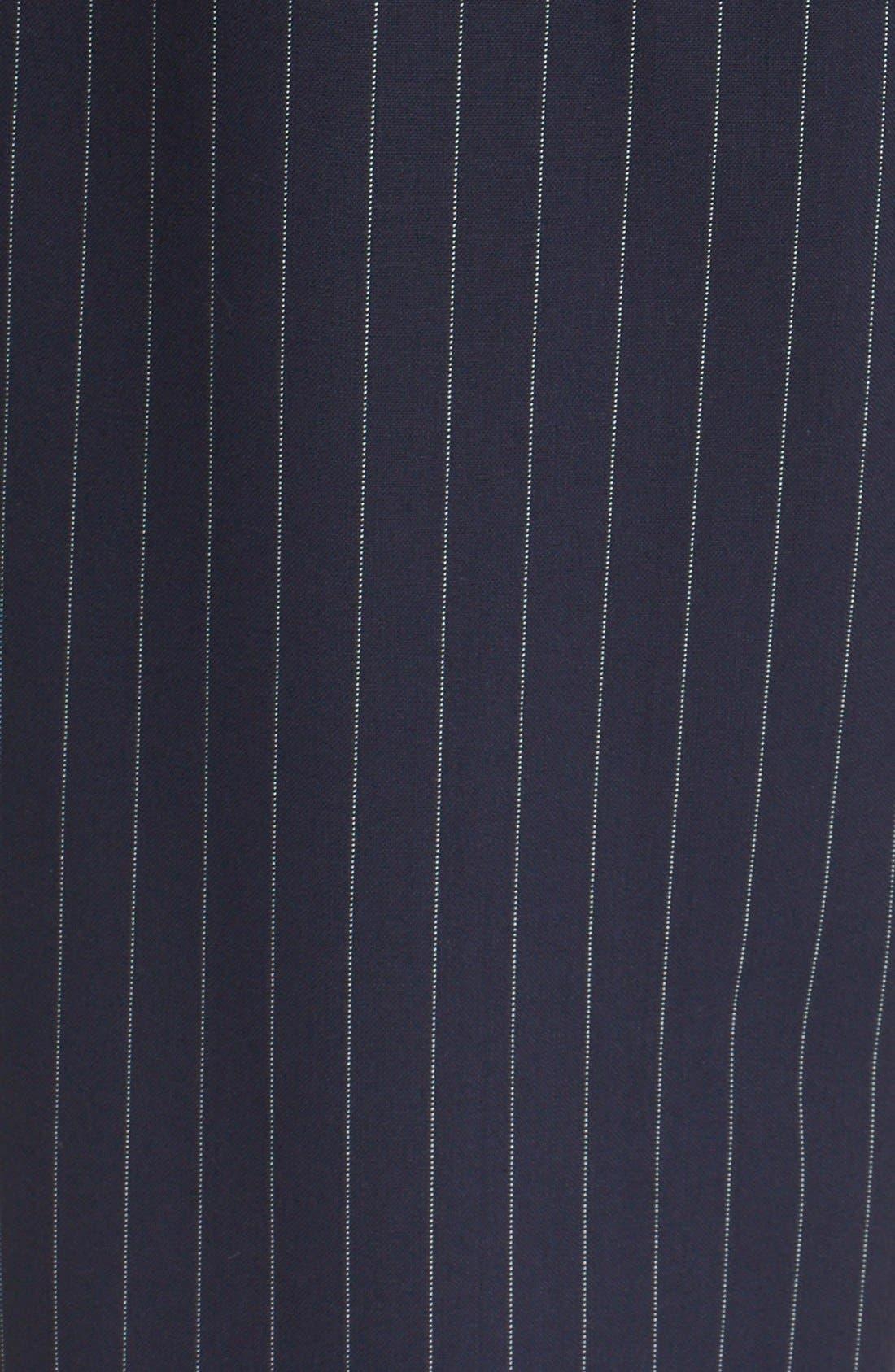 Alternate Image 6  - DKNY Pinstripe Cuff Pants