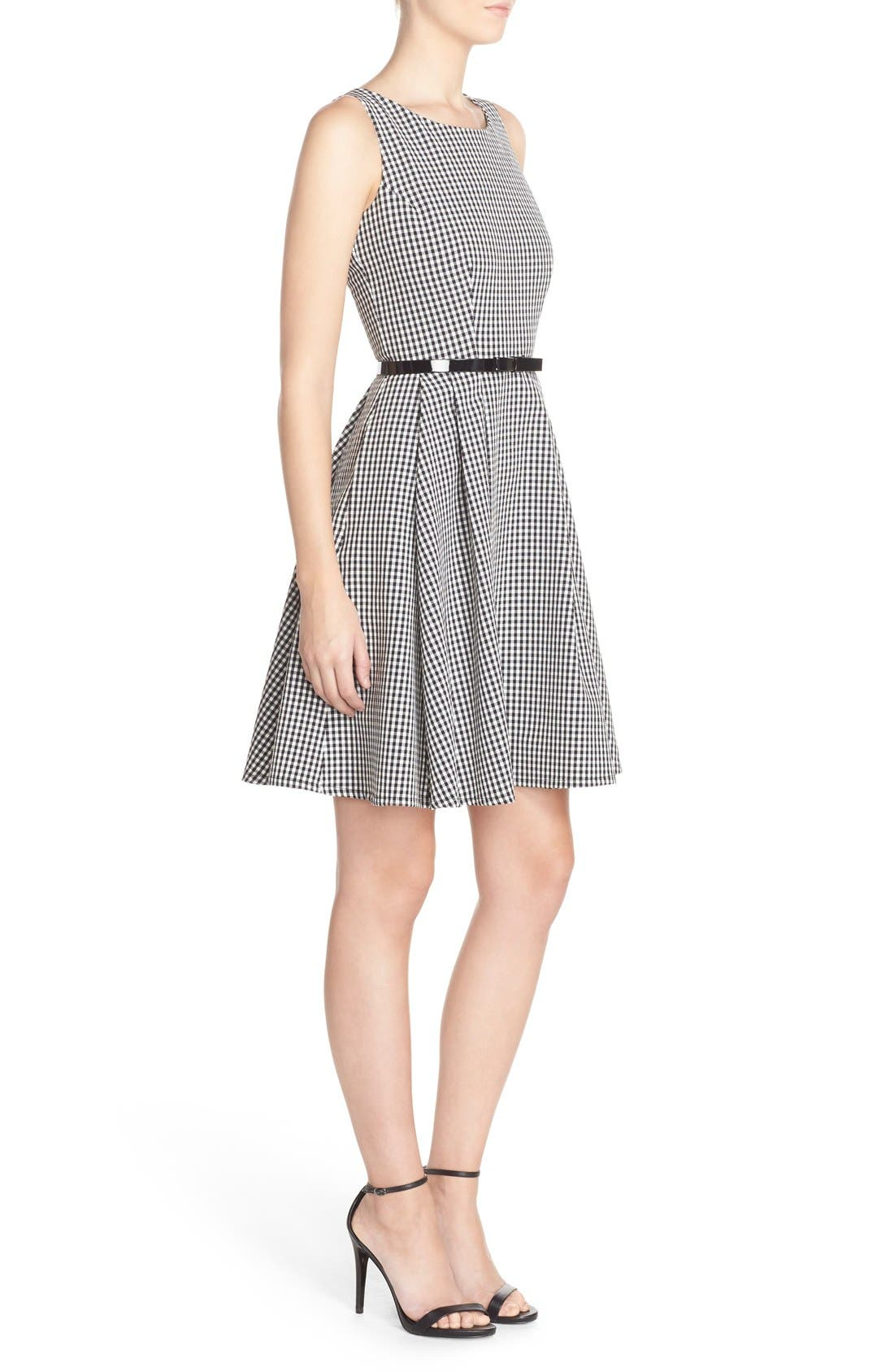 Alternate Image 3  - Gabby Skye Gingham Fit & Flare Dress