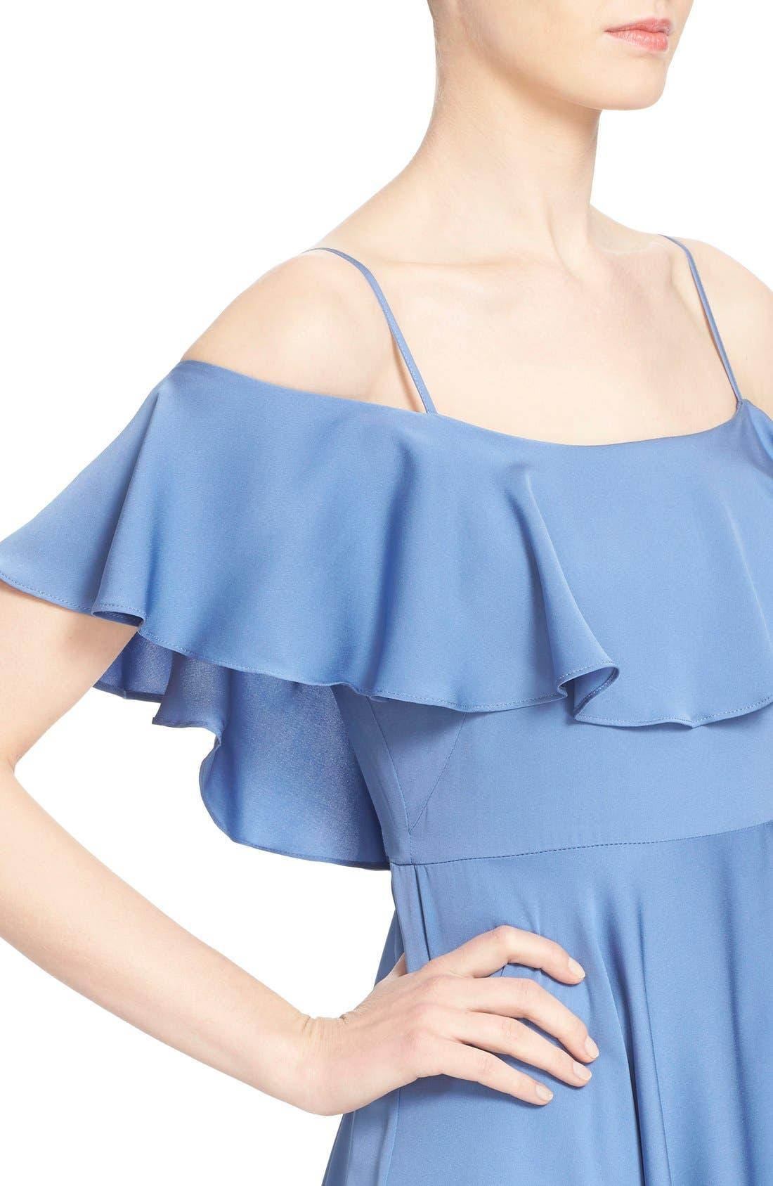 Alternate Image 4  - Milly 'Emmaline' Ruffle Stretch Silk Dress