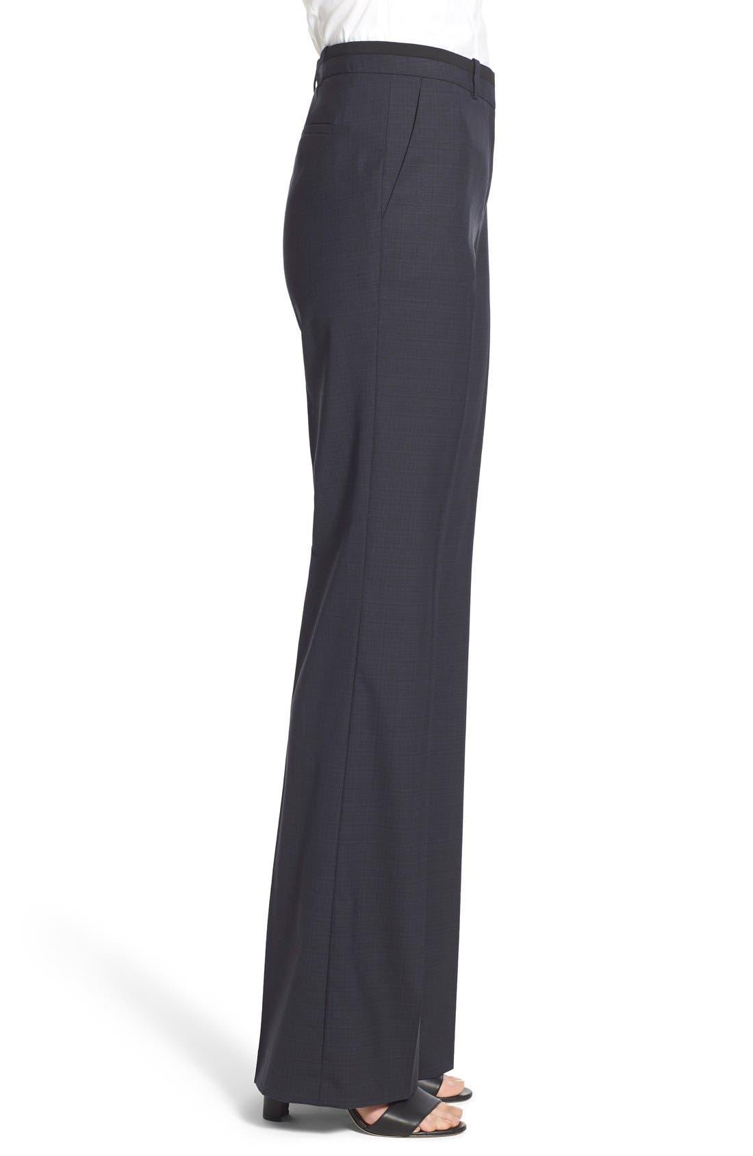 Alternate Image 3  - BOSS 'Tulea' Plaid Stretch Wool Trousers