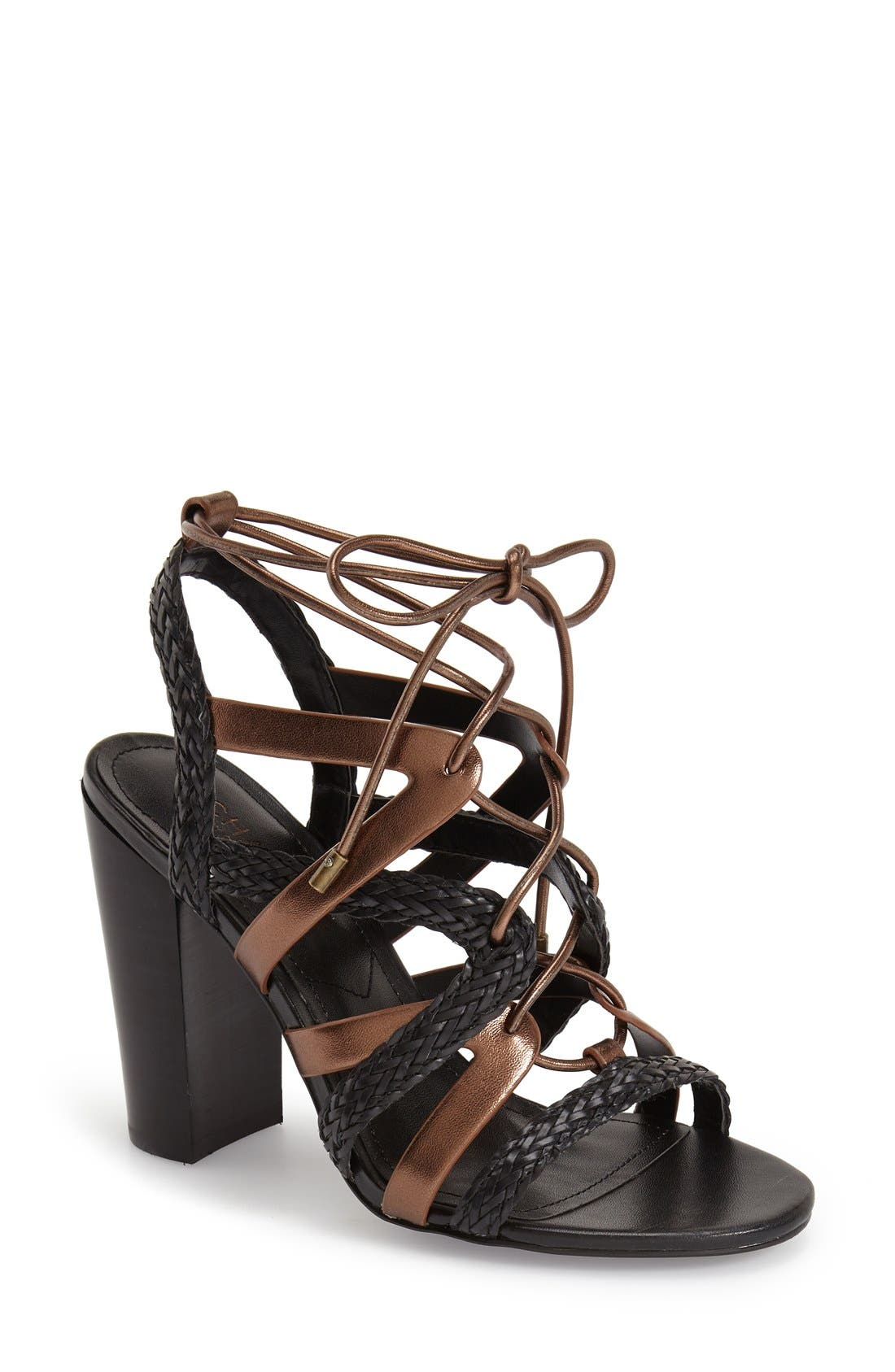 Alternate Image 1 Selected - Charles by Charles David 'Greensboro' Lace-Up Block Heel Sandal (Women)