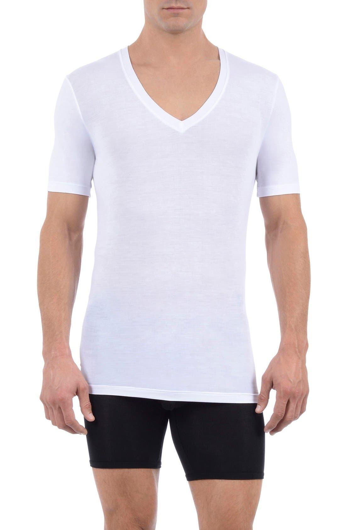 Tommy John 'Cool Cotton' Deep V-Neck Undershirt