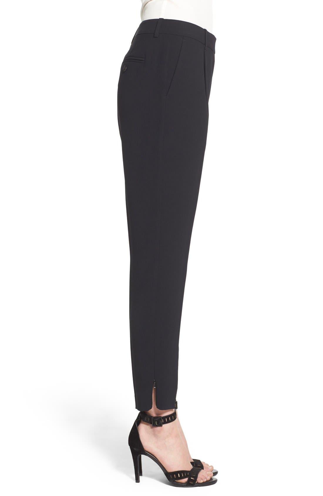 Alternate Image 4  - Trouvé High Waist Pleat Front Crop Pants