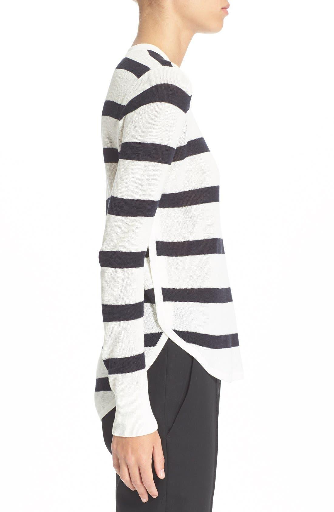 Alternate Image 3  - A.L.C. 'Riley' Stripe Cotton Sweater