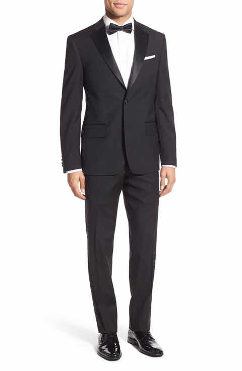 Nordstrom Men's Shop Trim Fit Wool Tuxedo