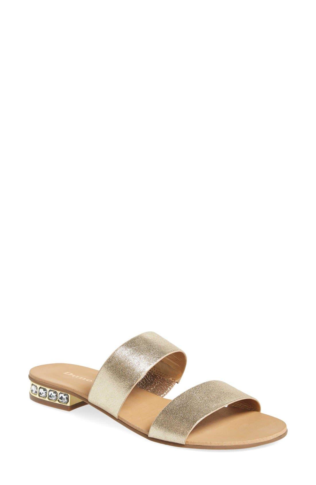Alternate Image 1 Selected - Dune London 'Nesha' Flat Slide Sandal (Women)