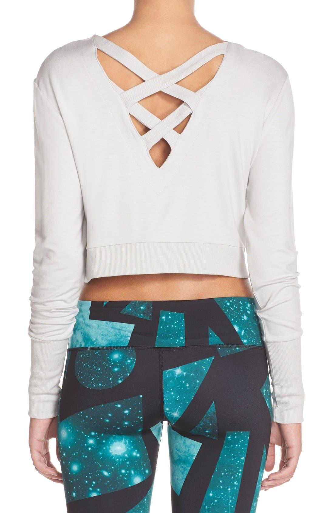 Main Image - Alo 'Ava' Cross Back Crop Sweater