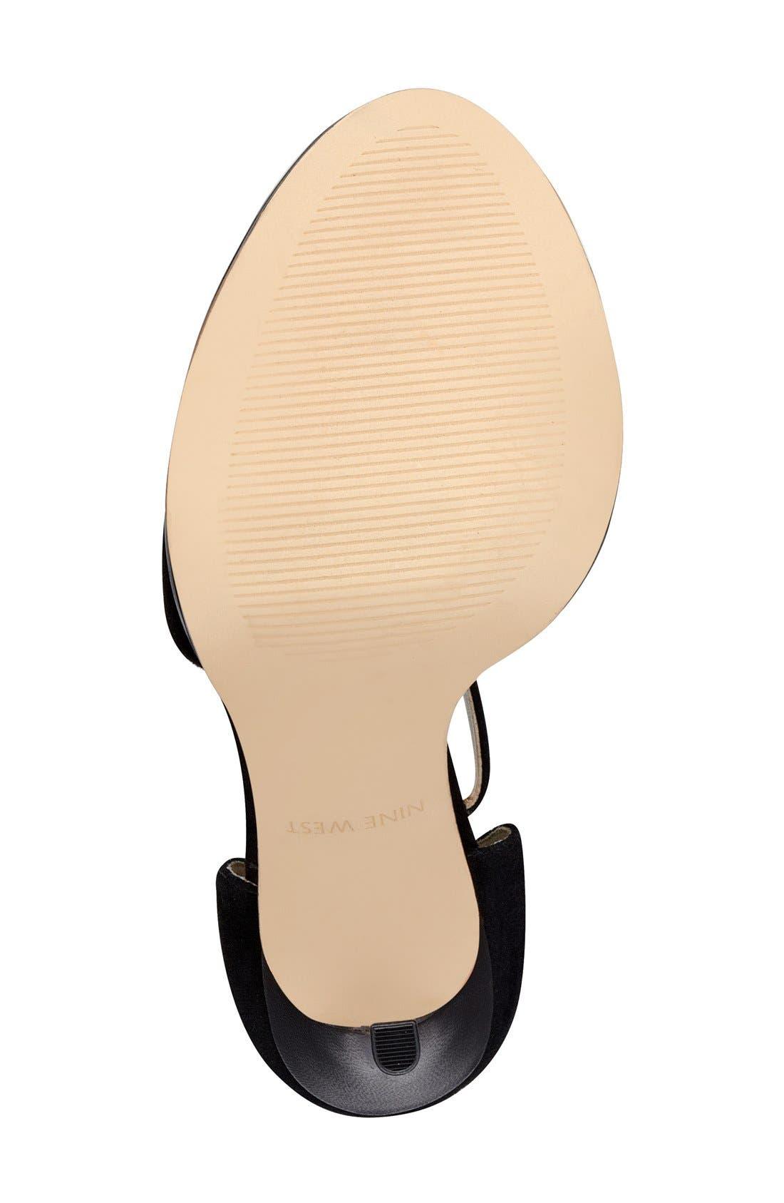 Alternate Image 4  - Nine West 'Hustle' Fringe Ankle Strap Sandal (Women)