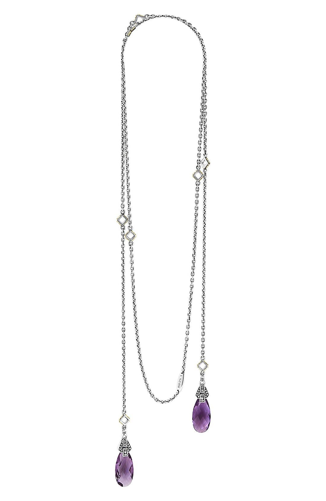 LAGOS 'Caviar Color' Semiprecious Stone Lariat Necklace