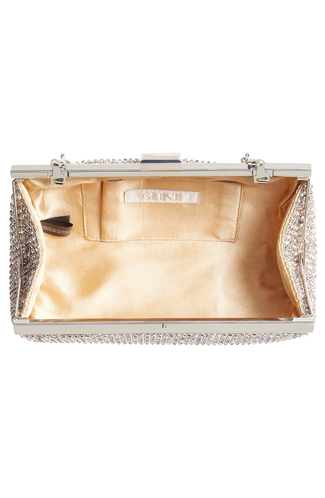Alternate Image 4  - Glint Crystal Mesh Clutch
