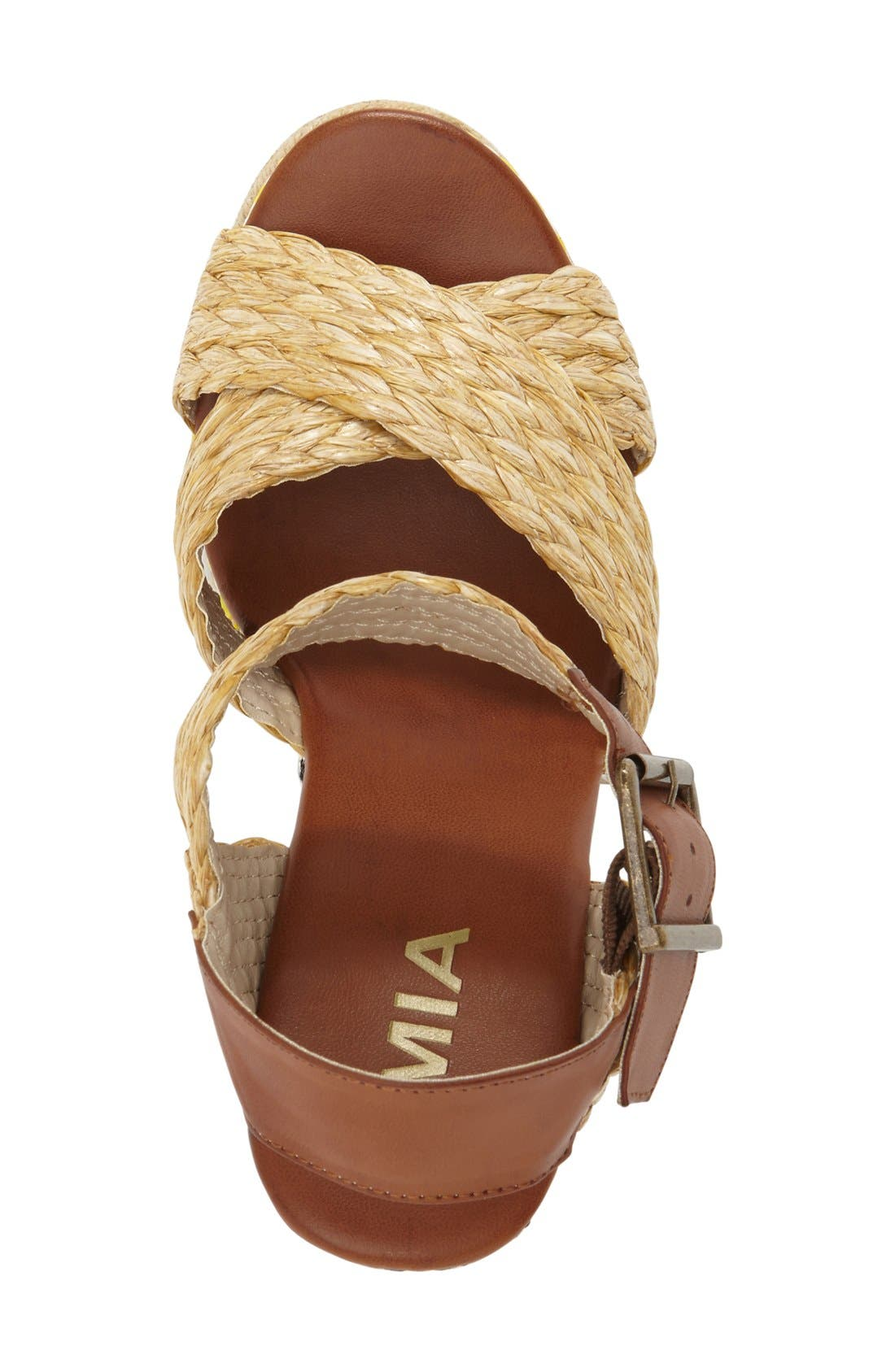 Alternate Image 3  - MIA 'Fareena' Platform Wedge Sandal (Women)