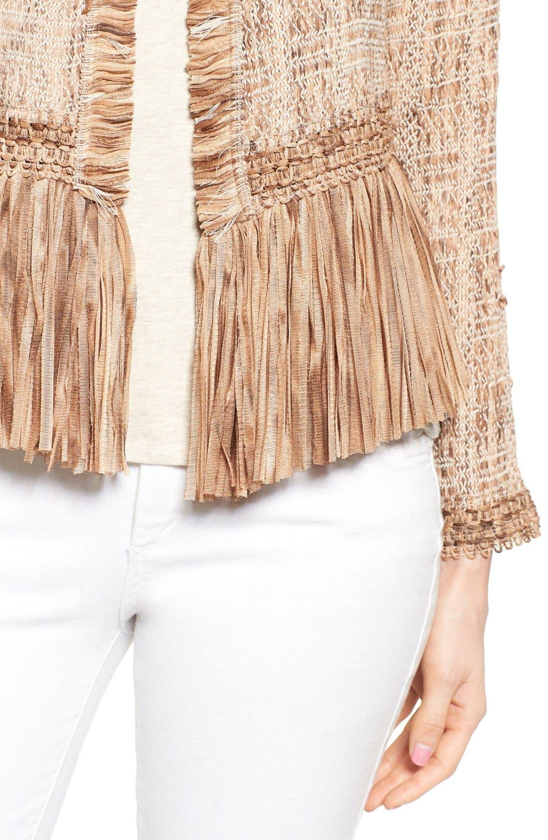Alternate Image 4  - NIC+ZOE 'Cork' Fringe Tweed Jacket (Regular & Petite)