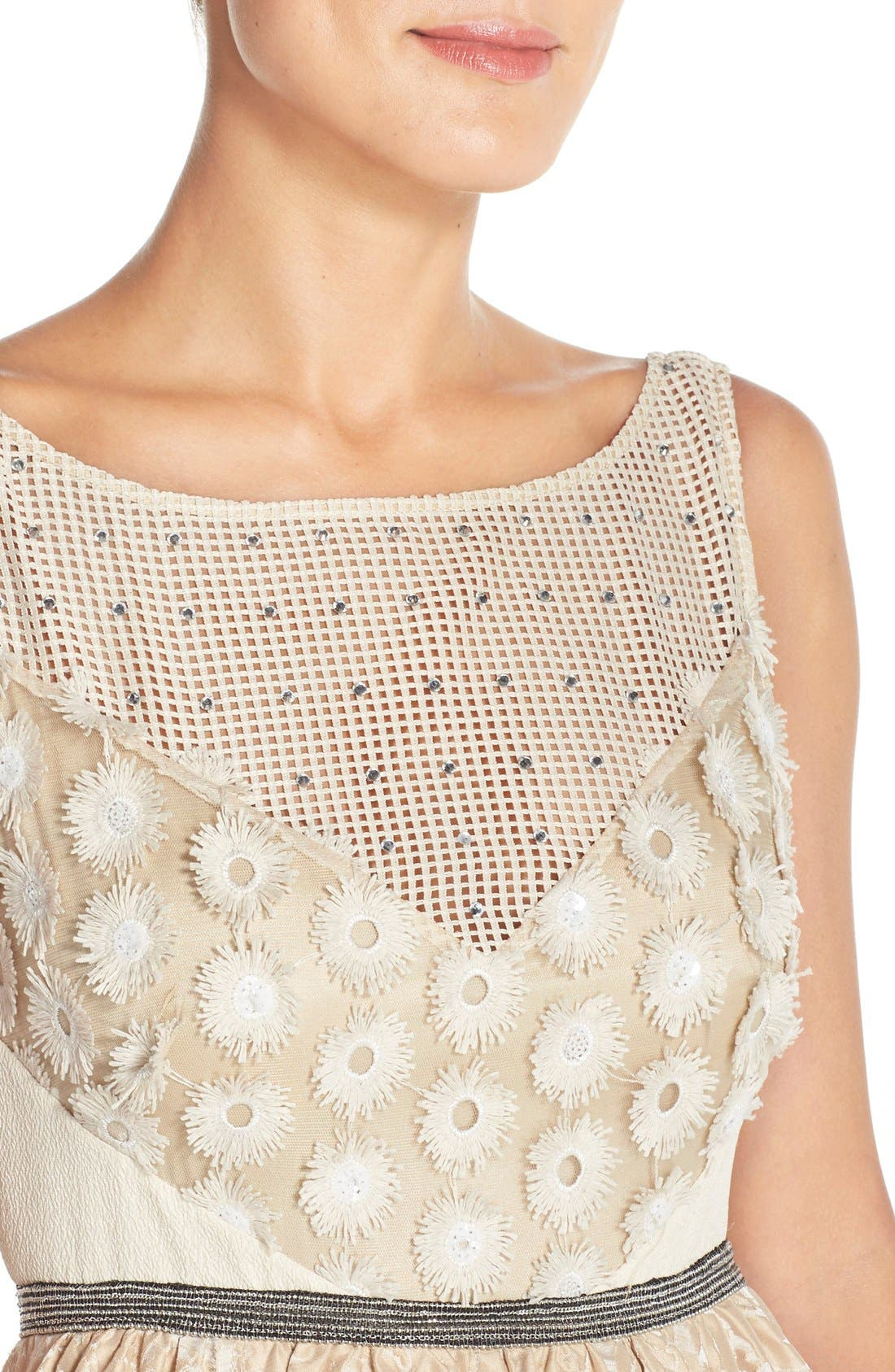 Alternate Image 4  - Tracy Reese Sequin Appliqué Woven Fit & Flare Dress